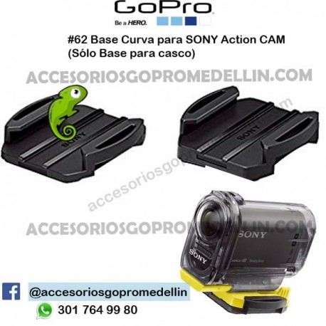 Base Curva Casco para SONY Action CAM