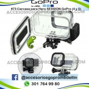 Carcasa GoPro Hero Session 4 y 5 Incluye Bateria de 5 Horas.