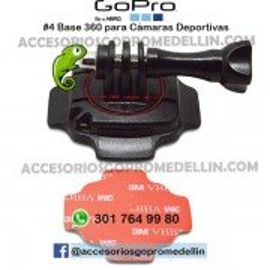 Base 360 GoPro en Casco Accesorios Medellin