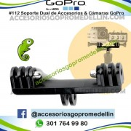 Soporte DUAL GoPro para Cámaras y Accesorios Dobles