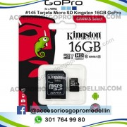 Tarjeta micro SD Kingston 16GB Clase 10 GoPro