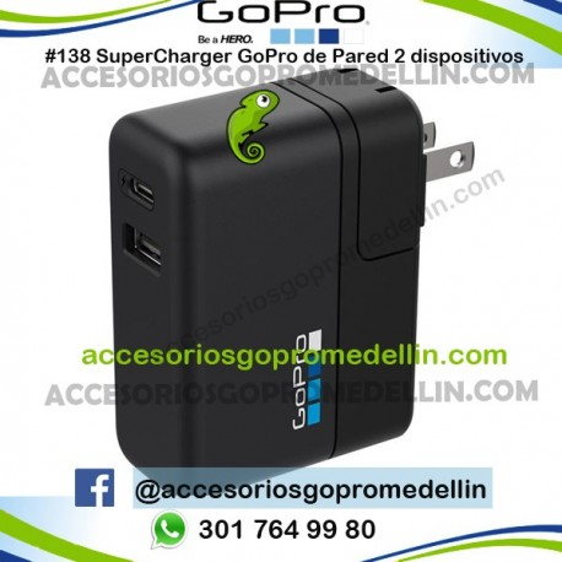 Supercharger GoPro Cargador de Pared