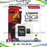 Tarjeta Micro SD Kingston 128GB Clase 10 80Mb SD XC