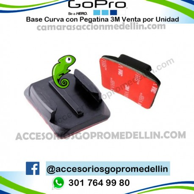 Base Curva 3M GoPro para Casco