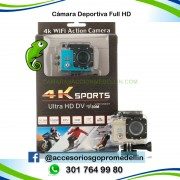 Cámara Deportiva Full HD WIFI 16MP