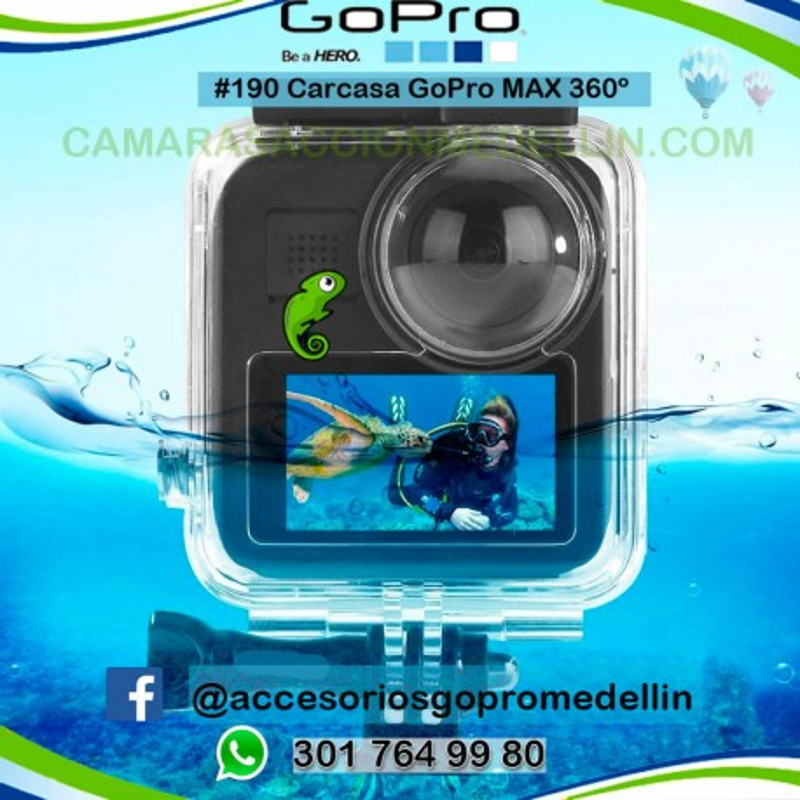 Carcasa GoPro MAX 360 Colombia